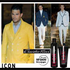 La firma de moda masculina Emidio Tucci , nos presenta Collection Black. Con una imagen más urbana , elegante y cómoda del hombre. I.C.O.N. fija y controla los cabellos de los modelos aportando un brillo increíble y luminosidad consiguiendo así un acabado impecable