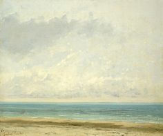 Gustave Courbet (French; 1819–1877)Calm SeaOil on canvas, 1866The National Gallery of Art, Washington, D.C.