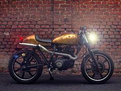 "Straightspeed: ""Pepita"" Yamaha SR250 by Skinny Cafe Racer"