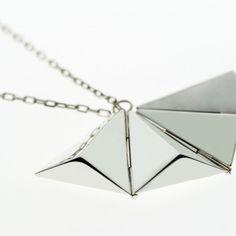 Single triangle hinged necklace Arrow Necklace, Triangle, Studio, Silver, Jewelry, Jewellery Making, Jewlery, Jewelery, Jewerly