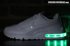 WHITE NIKE AIR MAX LTD WITH CONTINUOUS LIGHTS – Evolved Footwear Custom Light Up Shoes
