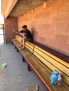 Resting up after installation of Condor bench at Cherokee Trail High School in Aurora Colorado. Baseball Dugout, Baseball Field, Deck Framing, Basketball Information, Bar Art, Magic City, Outdoor Furniture, Outdoor Decor, Softball
