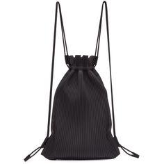 HOMME PLISSE ISSEY MIYAKE Black Nylon Pleated Backpack. #hommeplisseisseymiyake #bags #nylon #backpacks #