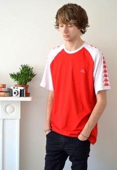 90's Vintage Red and White Kappa T Shirt | Ica Vintage | ASOS Marketplace