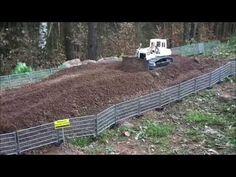 Komatsu D65Wx levelling ground - YouTube