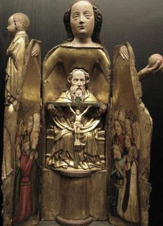 tonguedepressors:    mirabile—-visu:    'Madonna Ouvrante' with Holy Trinity Inside, French c. 1400