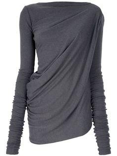 Hmmm...$500 :-/ Women - All - Rick Owens Draped Asymmetric Top - Tessabit.com – Luxury Fashion For Men and Women: Shipping Worldwide