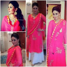 Kareena Kapoor in a Amrita Thakur salwar and earrings