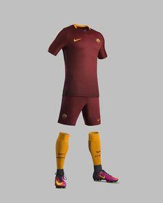 d4bc1e9d55 L AS Roma svela la nuova divisa Nike per la stagione 2016-17 Uniformes.  Uniformes FutebolCamisas ...