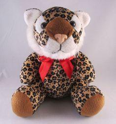 KellyToy Soft Spotted Stuffed Plush Cheetah Leopard EUC Beans Animal Kitty Bean #KellyToy