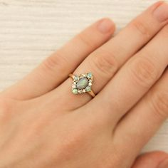Vintage Gold and Opal Ring | New York Vintage & Antique Estate Jewelry – Erstwhile Jewelry Co NY