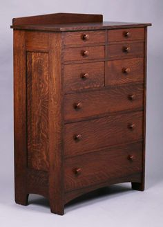Tall L&JG Stickley nine-drawer dresser. Very nicely refinished years ago. x x SOLD Craftsman Style Furniture, Mission Style Furniture, Craftsman Interior, Country Furniture, Craftsman Homes, Arts And Crafts Furniture, Home Decor Furniture, Furniture Projects, Woodworking