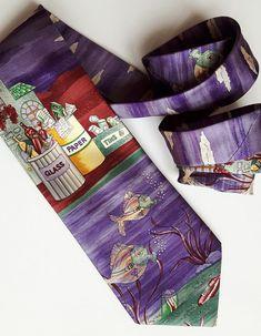 Vintage Jacques Ploenes silk tie ecology envoronment Ecology, Silk Ties, Environment, Vintage, Fashion, Moda, Fasion, Vintage Comics, Trendy Fashion