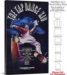 "The Dance Kid 1983 Famous Broadway Musical Show Canvas Wrap 18"" x 30"""