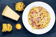 La tradicional salsa Carbonara - Emedemujer VE Penne, Rigatoni, Pasta Carbonara, Healthy Nutrition, Ratatouille, Macaroni And Cheese, Cabbage, Cooking Recipes, Favorite Recipes