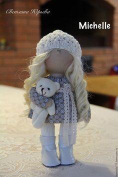 Купить Интерьерная кукла - бежевый, молочный, кукла ручной работы, кукла в подарок, кукла интерьерная