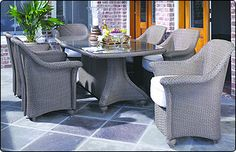 Lloyd Flanders All Weather Wicker Dining Tables & Chairs