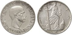 NumisBids: Nomisma Spa Auction 50, Lot 466 : Vittorio Emanuele III (1900-1946) 10 Lire 1936 Prova – P.P. 213 AG...