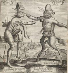 Sloth and Anger from Recueil des plus illustres proverbes divisés en trois livres: 1663