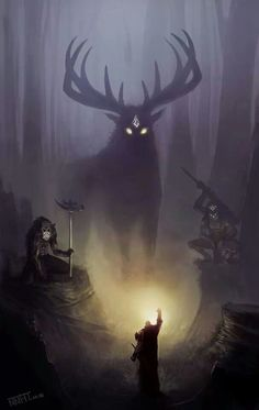 The Greenman, Cernunnos/Herne the Hunter... By Artist Unknown...