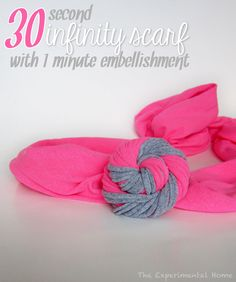 - Dream a Little Bigger Craft Blog - Tee Shirt Infinity Scarft DIY by The ExperiementalHome