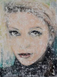 """Saatchi Art Artist Nena Stojanovic; Drawing, """"self portrait 1"""" #art"""