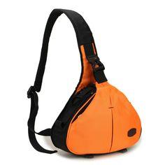 Waterproof Caseman C10 Orange Dslr SLR Camera bag case Sling shoulder bag for Canon Sony Nikon Pentax