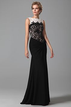 Sleeveless Top Lace Floor Length Evening Dress Formal Gown (26152000)