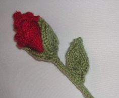 Knitting Galore: Knit a St George's Day Red Rose