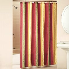 red and tan shower curtain. Seersucker Shower Curtain in Burnt Orange  Red Yellow Gold Green I also like this shower curtain with the tan walls and pretty bath