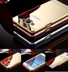Aluminum Metal Bumper Mirror Case Cover For Samsung Galaxy Core/Grand Prime Duos