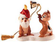 WDCC Disney Classics Plutos Christmas Tree Chip N' Dale Ornament (1997) #WDCCDisneyClassics #Art. Holiday Ornament Series: 1997 Selection-3rd release in series.Candle Snuffer: Real metal. Backstamp: Includes special Holiday Series Logo.