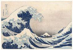 KATSUSHIKA HOKUSAI Kanagawa Oki Nami Ura (The Great Wave off Kanagawa) 1830 Color woodblock print × cm ___ This is Hokusai's most famous work, and one of the best recognized works of. Hokusai Wave, Katsushika Hokusai, Japanese Art Prints, Japanese Painting, Great Wave Off Kanagawa, Debussy La Mer, Monte Fuji, Gravure Illustration, Waves Wallpaper