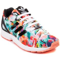 Womens adidas ZX Flux Athletic Shoe ($99) ❤ liked on Polyvore featuring shoes, athletic shoes, sports footwear, adidas shoes, shock absorbing shoes, flexible shoes and adidas