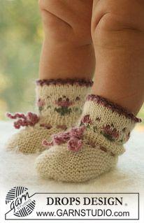 """DROPS sukat koristereunuksella """"Alpaca""""-langasta. ~ DROPS Design"""