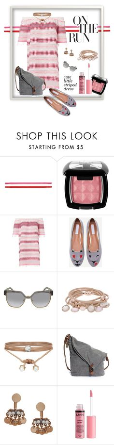"""""""Sweet striped dress"""" by maryg0304 on Polyvore featuring Kate Spade, NYX, Lemlem, Chloé, Marjana von Berlepsch, ALDO, Humble Chic and Charlotte Russe"""
