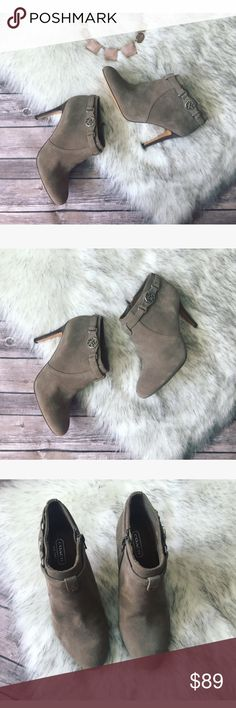💗 Gorgeous Coach ankle booties 💗 🌺 Gorgeous Coach ankle booties in size 7, color is beige worn once condition is literally new see pics. 🌺 Coach Shoes Ankle Boots & Booties