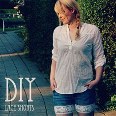 Cute DIY lace shorts