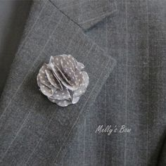 Hey, I found this really awesome Etsy listing at http://www.etsy.com/listing/154706676/gray-polka-dots-mens-lapel-flower-mens