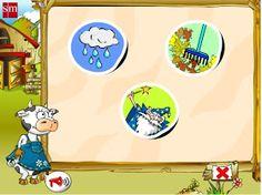 """Mi clase 2000 Recursos Didácticos Digitales: """"Juega con Paca, la vaca"""". Educación Infantil de 3 años."""