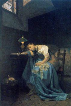 Angelo Trezzini, A Tired Seamstress