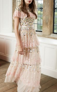 Tiered Anglais Gown by Needle & Thread