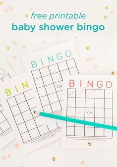 Free Printable Baby Shower Bingo  Baby Shower Bingo Frugal And