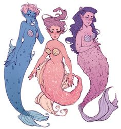 some more mermaid ideas by starpatches @ tumblr.com/