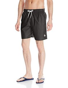 24cfc34ebf RBX Mens Embossed Microfiber Hybrid Swim Shorts Black Small * Check this  awesome product by going to the link at the image.