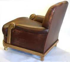 Art Deco leather club chair vintage