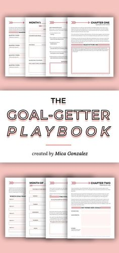 Just for you The Goal-Getter Playbook is the ultimate planner for setting, managing, and slaying you Planner Pages, Life Planner, Printable Planner, Printables, Business Goals, Business Tips, Online Business, Entrepreneur, Goal Setting Worksheet
