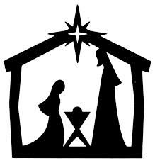 christmas silhouettes - this would be great cut out and backlit
