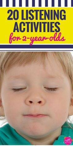 Have a 2 year old that doesn't like to listen? These 20 listening activities are fun and effective. Your toddlers and preschool kids will be following directions in no time with these whole body games and music.