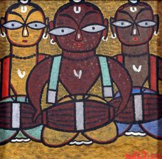 Jamini Roy (1887-1972)DHOL PLAYERS
